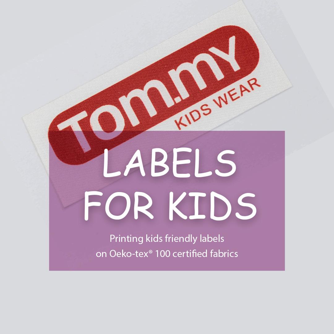 Soft satin label. Designed for branding clothes (Tommy) 1