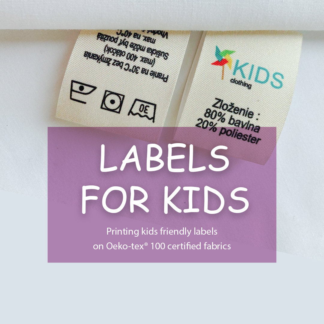 The label, folded in half, is sewn to the clothes. Contains logos, components and recommendations 7
