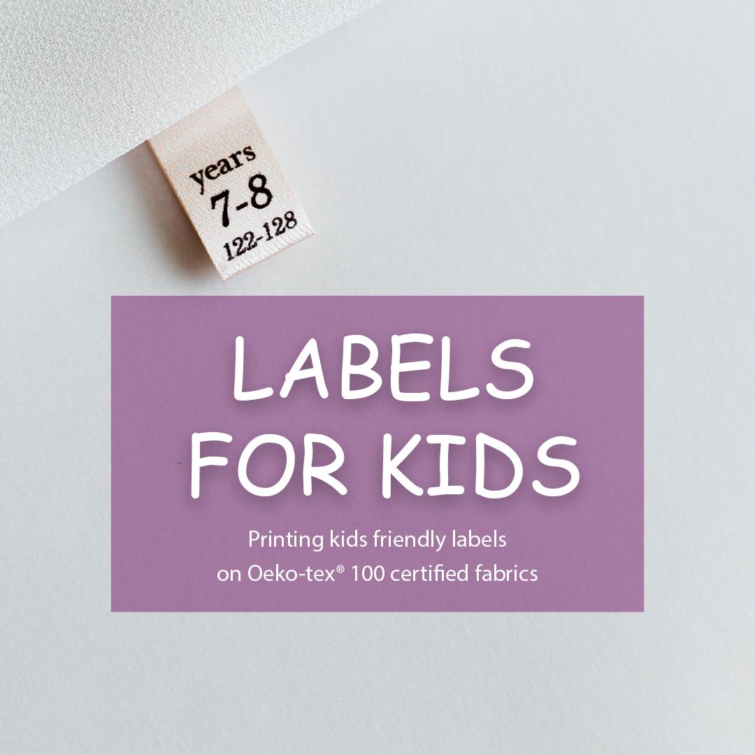 Soft satin label. Designed for children's clothing 5