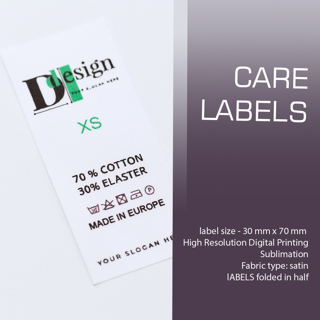 The label is branded with a logo and components. May contain additional information (brand country) 3