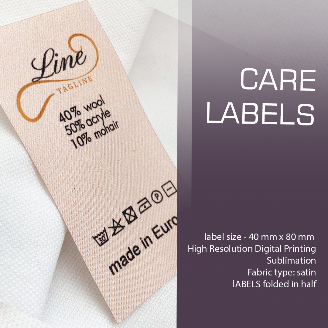 Large full-color label containing the composition. Designed for clothing. (_Line_) 5