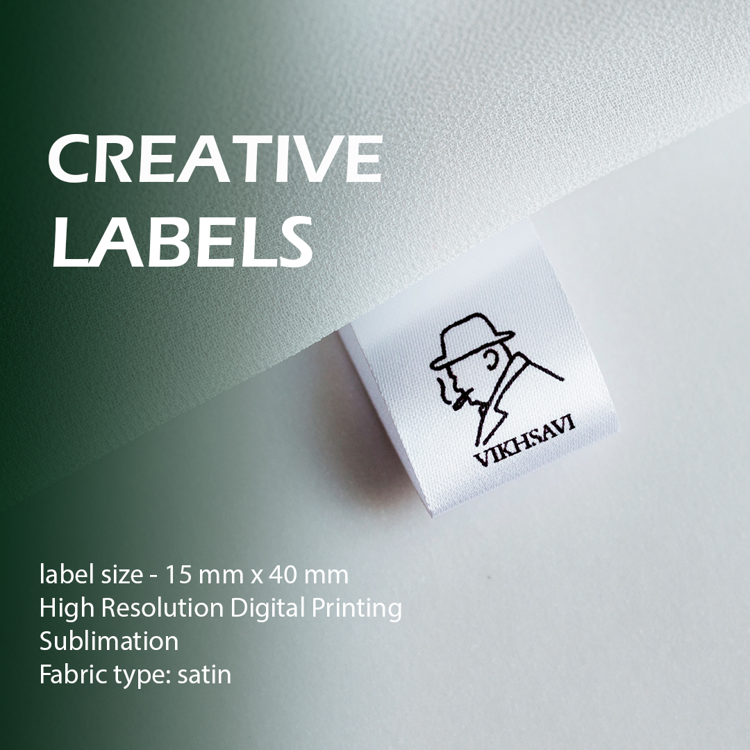Compact label with logo. Serve for additional branding. 7