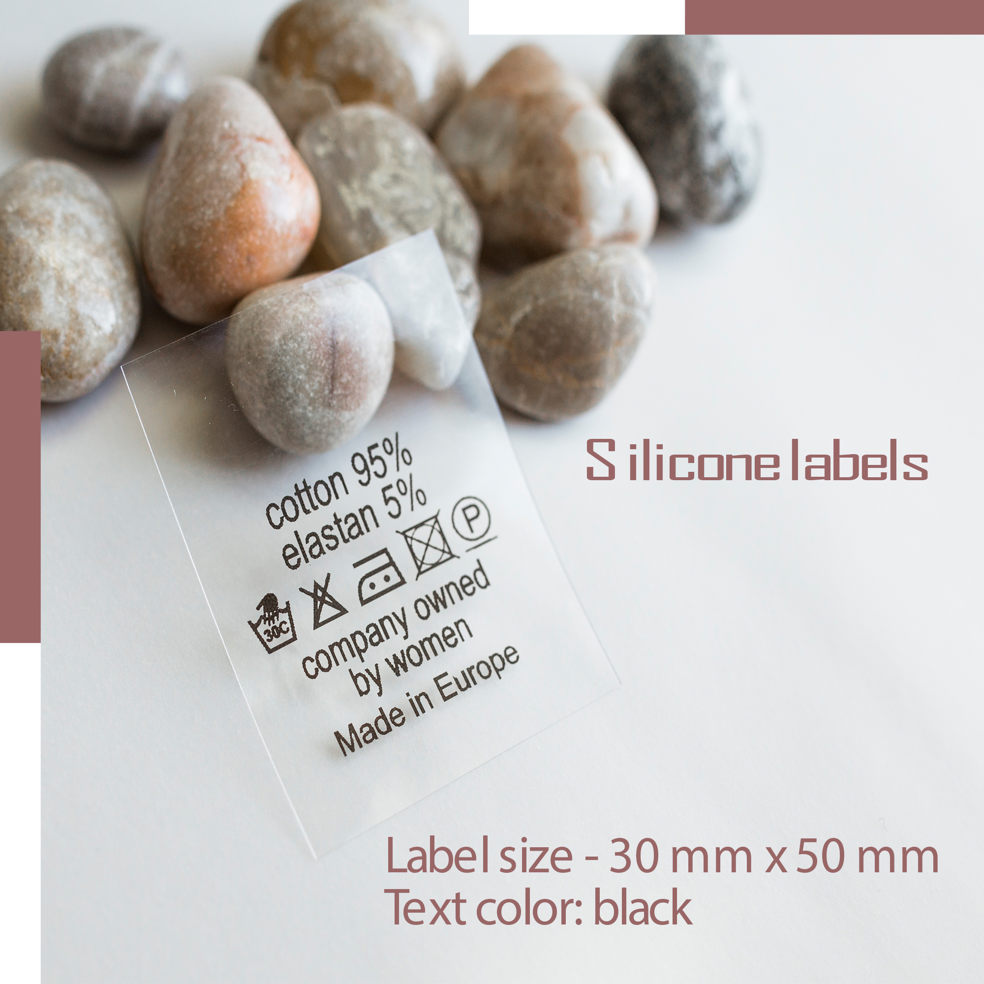 Label on silicone film. Designed for special conditions for sewing on clothes. Print in one color! 5