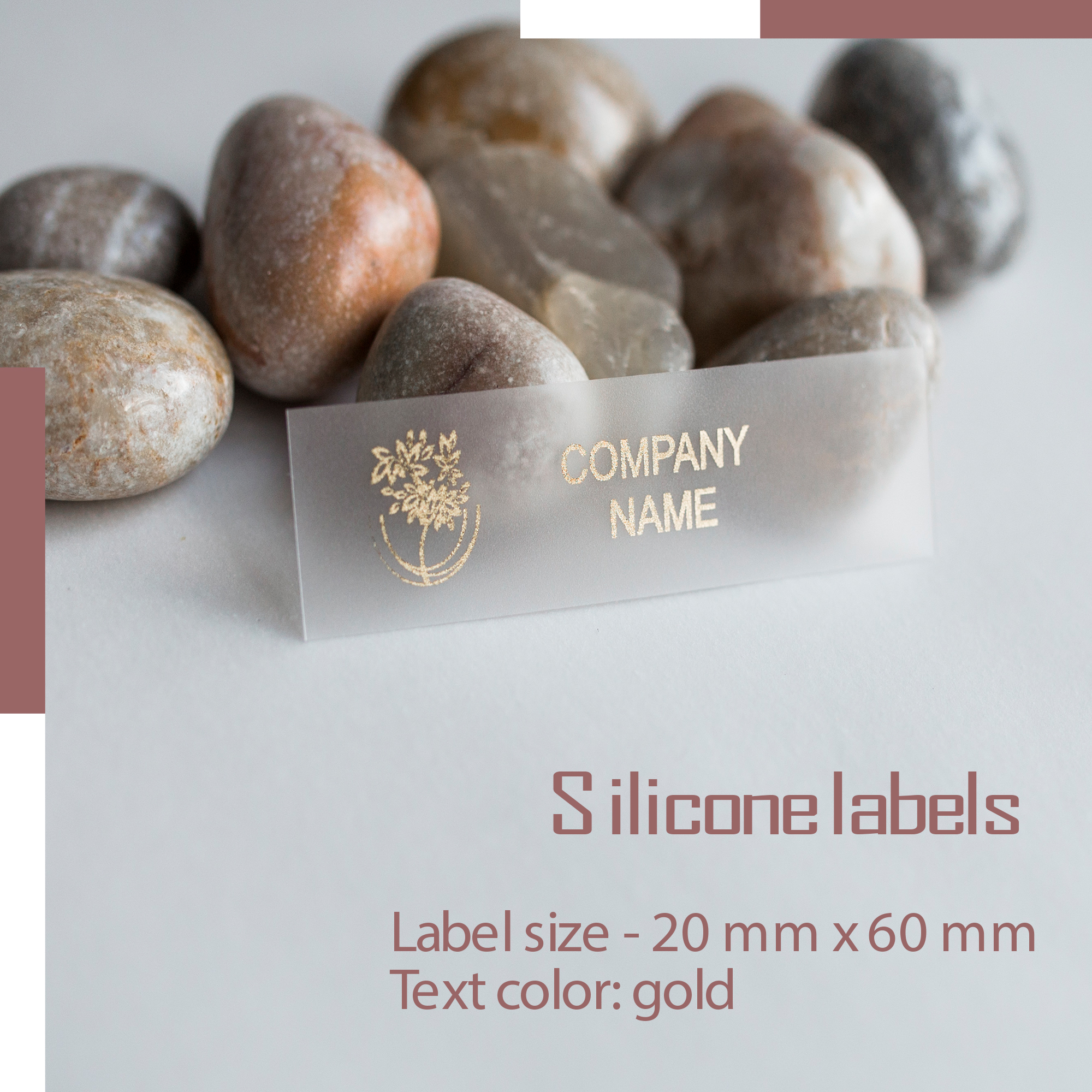 Label on silicone film. Designed for special conditions for sewing on clothes. Print in one color! 1