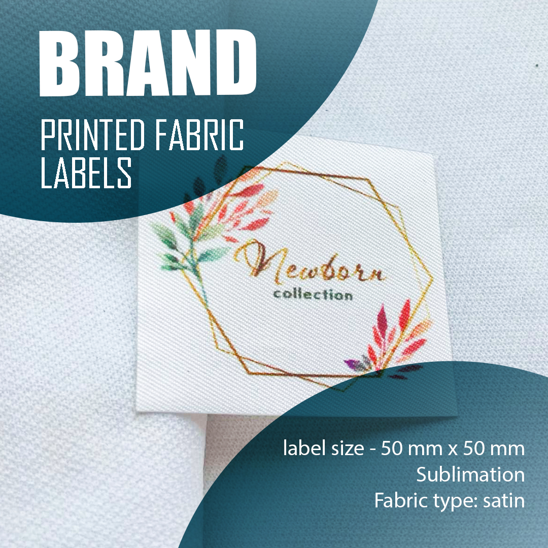 Branded label containing a unique logo. Designed for branding a series of products 3