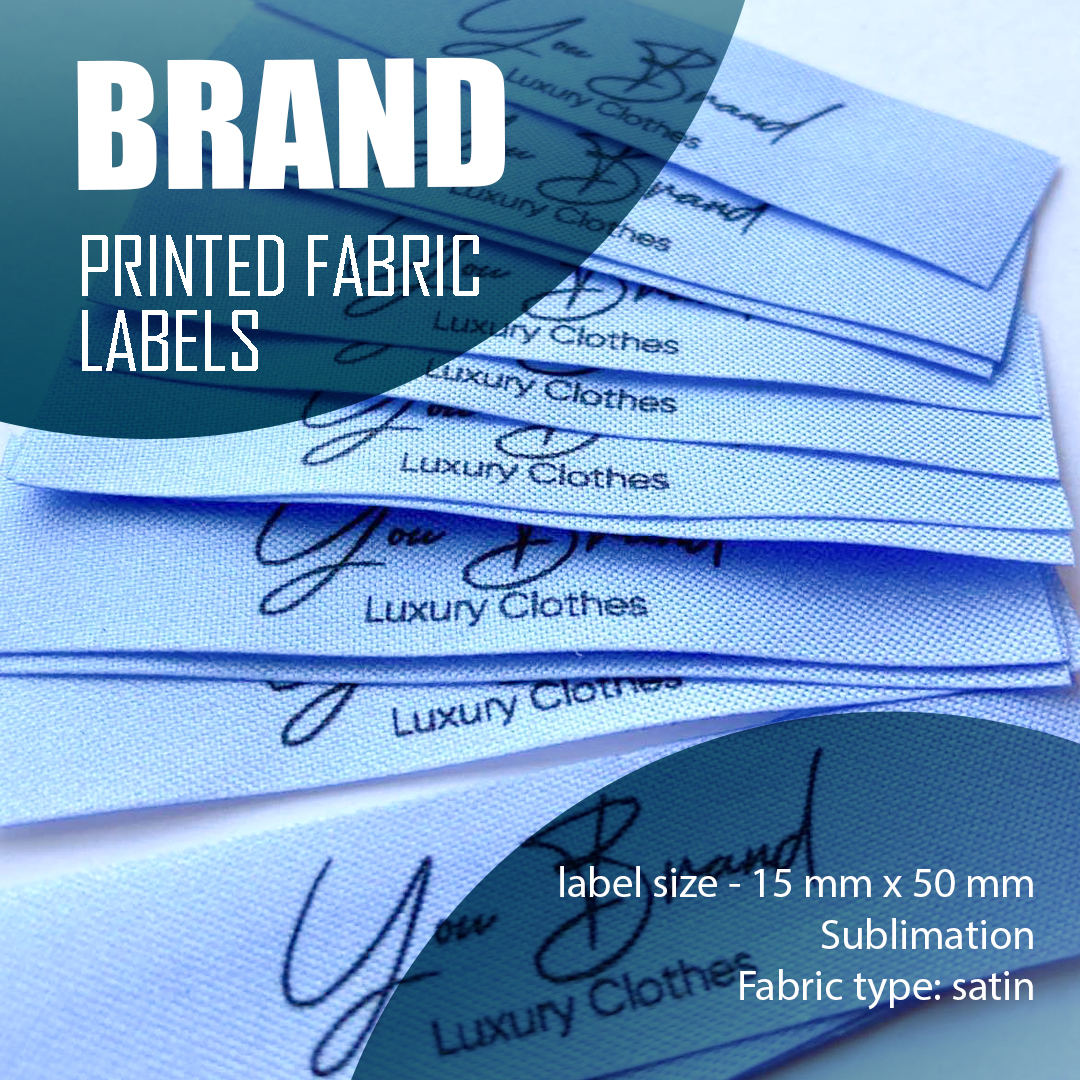 The branded label, which contains a unique logo, is extended. Designed for a series of products 7