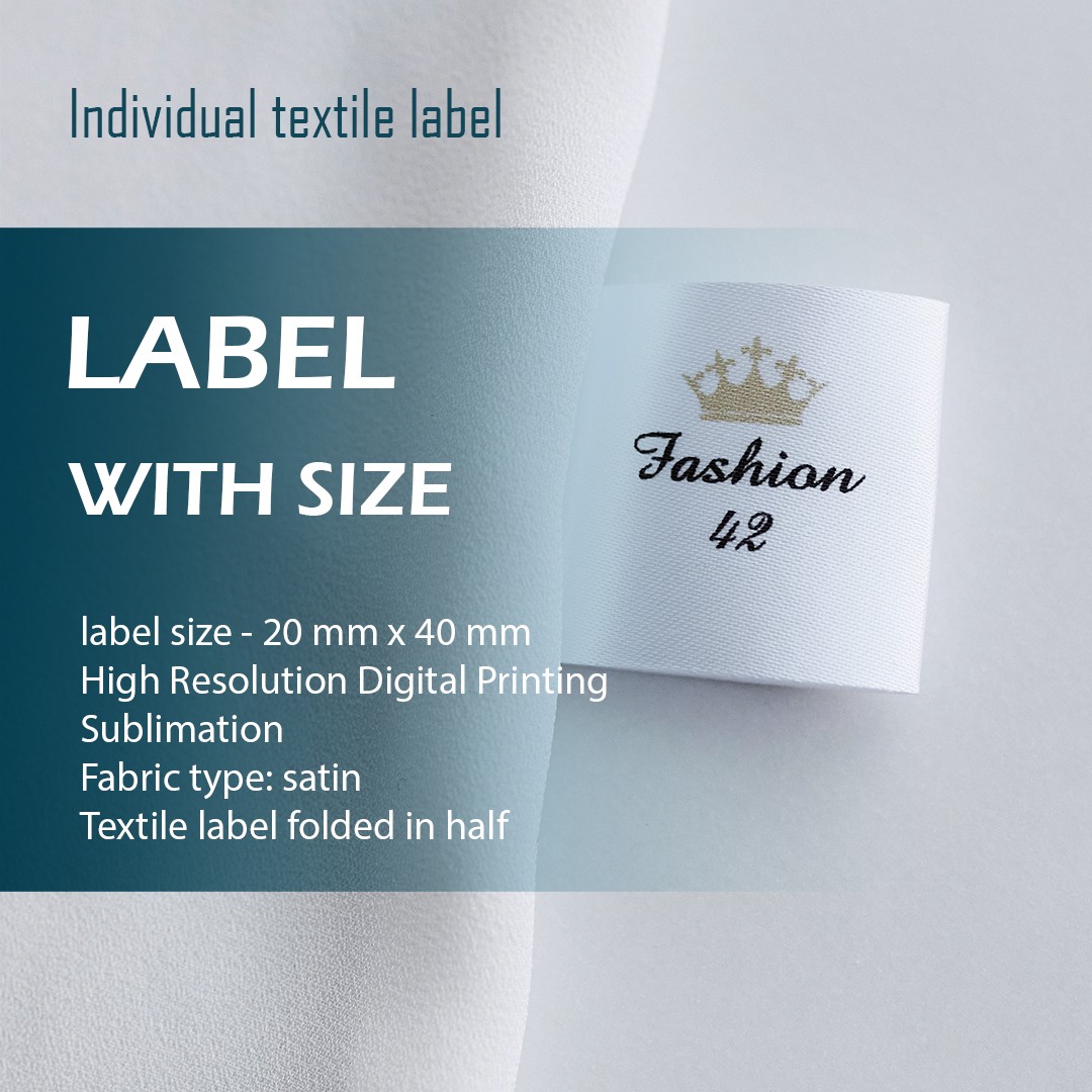Dimensional label with logo. Miniature and neat, does not irritate the skin. All sizes. 1